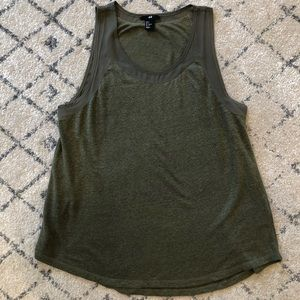 H&M Tank Top in Olive Green